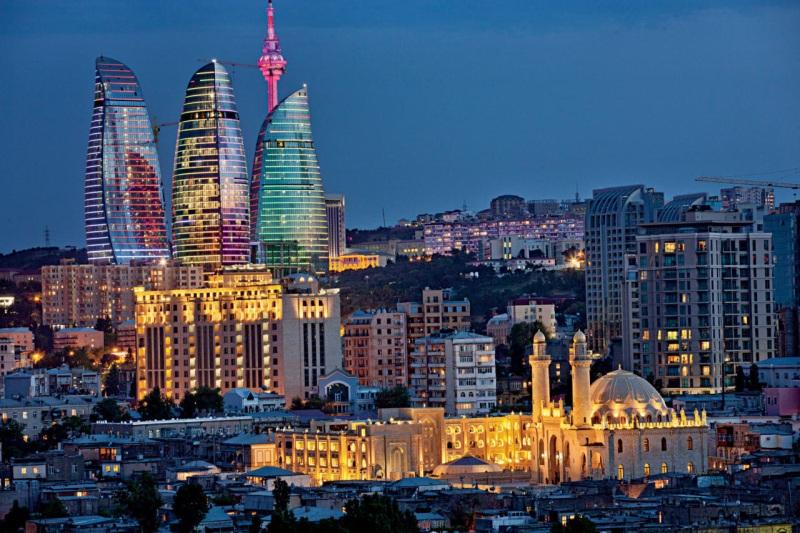 Новогодние огни Баку