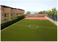 футбольное поле в лагере мистраль