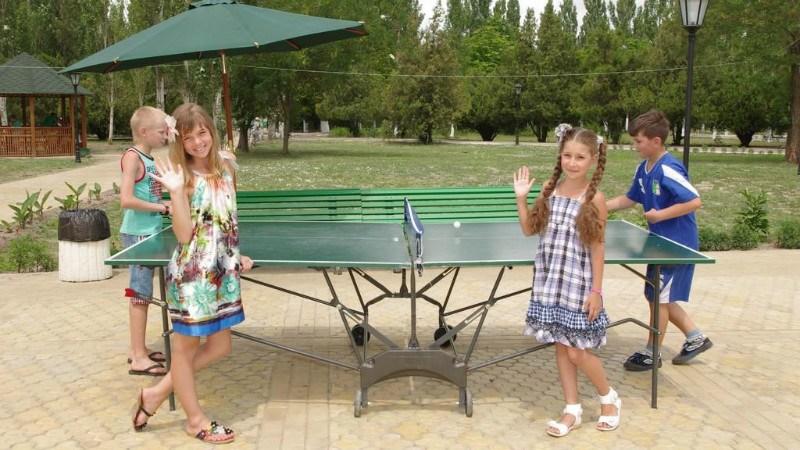 настольный тенис в лагере Романтик