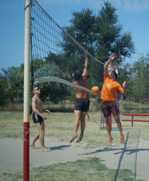 спорт в лагере Романтик Скадовск