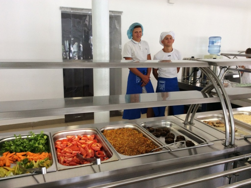 кухня в детском лагере